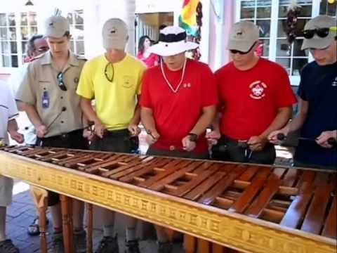 Philmont 2011 Troop 637 Playing Xylophone in Old Albuquerque.wmv