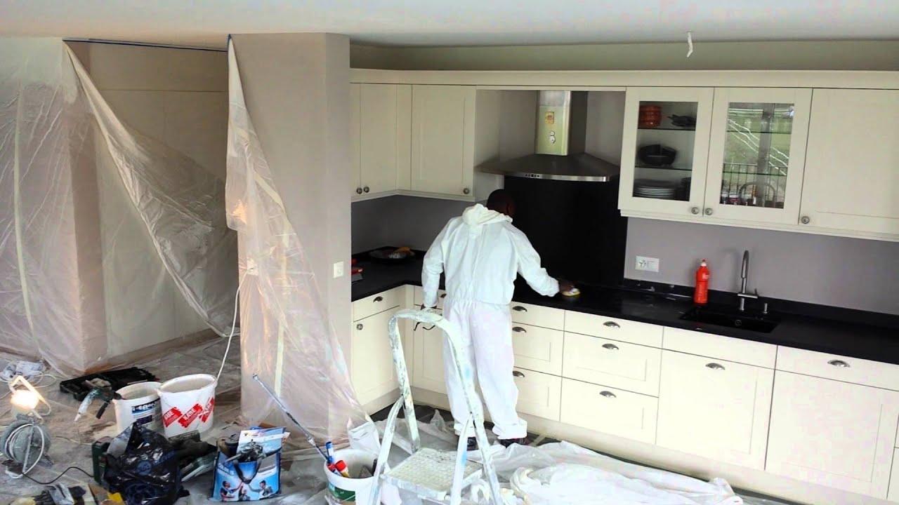 plafond peint au pistolet airless graco youtube. Black Bedroom Furniture Sets. Home Design Ideas