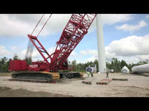 Manitowoc 16000 Wind Attachment Boom Raising System - Bull Hill Wind Farm