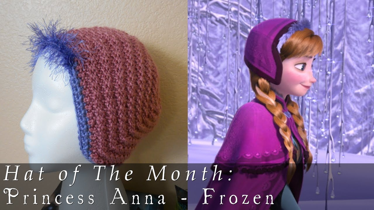 Free Crochet Pattern For Anna Hat : Hat of The Month Jan. 2014 Frozen - Anna - YouTube