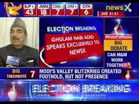 Ghulam Nabi Azad speaks exclusively to NewsX