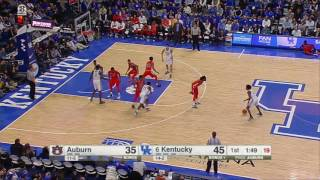 Kentucky vs Auburn Basketball Highlights 1-14-17