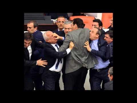 Turkish Parliament Fight
