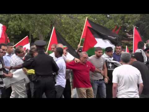 JDL At Palestine House July 3 2014 - Protest Turns Violent