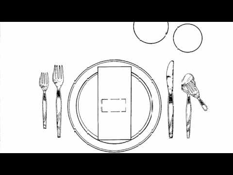 Rules Of Etiquette How To Set The Table Youtube