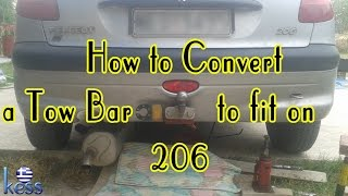 How to Convert a TowBar (hitch) to Fit into Peugeot 206 Μετατροπή Κοτσαδόρου Ρενώ Κλειώ σε Πεζώ 206