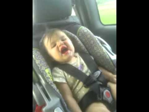 Baby snorting in the car so funny