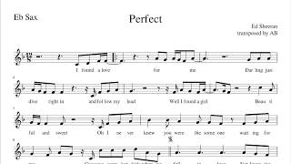 """Perfect"" - Ed Sheeran Alto Sax Cover | Sheet Music PDF | Lyrics"