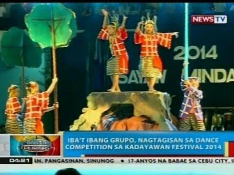 BP: Iba't ibang grupo, nagtagisan sa dance competition sa Kadayawan Festival 2014