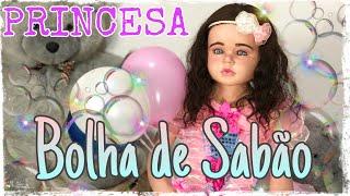 REBORN TODDLER MAYA VIROU A PRINCESA BOLHA DE SABÃO! PAPAI REBORN