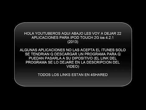 Aplicaciones Para Iphone 3G & Ipod Touch 2G iOS 4.2.1 (2014) (ACTUALIZADO)
