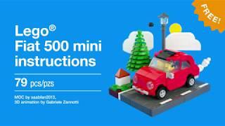 Lego Fiat 500 (mini) - free instructions!
