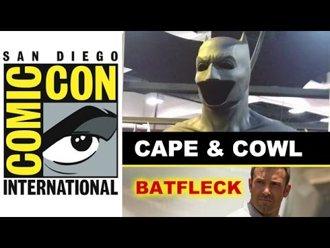 Comic Con 2014 - Ben Affleck Batman Suit CAPE & COWL : Beyond The Trailer