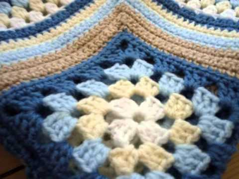 Youtube Crocheting Baby Blanket : Baby Boy Crochet Blanket Patterns - YouTube
