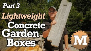 make Lightweight Concrete Garden Boxes PART 3 - Aircrete Vermiculite Lava Rock