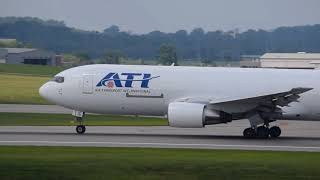 Air Transport International Boeing 767-200F CVG-DFW takeoff