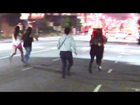Justin Bieber Under Age Fans Run From the Police – FOOTAGE