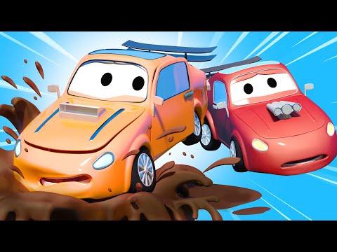 Автомойка Эвакуатора Тома - Проказник Тайлер - Автомобильный Город 💧 детский мультфильм