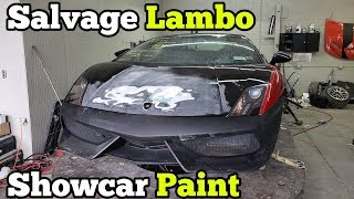 Stripping the Salvage Lamborghini DOWN to the FRAME For a Custom Color CHANGE!