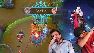 RoS YOUTUBERS PLAY MOBILE LEGENDS!! Dominating With Tripeezy and dHitman