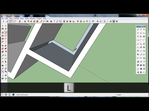 SketchUp 2014 Plugin 1001bit free model140312 membuat tembok