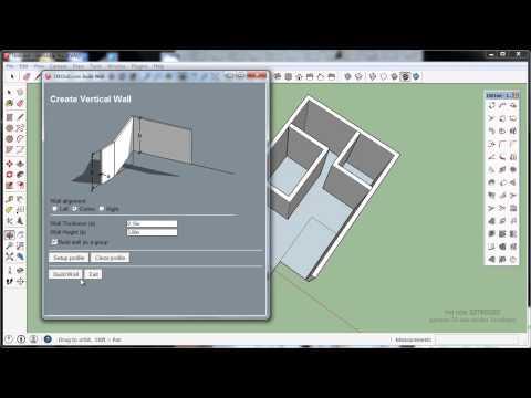 SketchUp 2014 Plugin 1001bit free model140312 membuat tembok