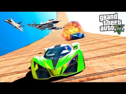 GTA 5 : FASTEST CAR VS LONGEST WALLRIDE!! (Versus Episode 4)