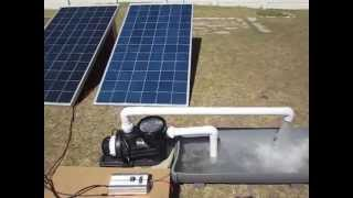 Swimming pool solar panels energy saving pump
