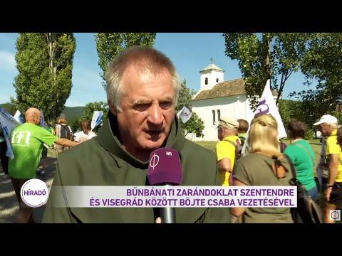 Bűnbánati zarándoklat Szentendre ás Visegrád között Böjte Csaba vezetésével