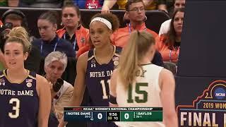 Notre Dame vs Baylor 2019 NCAA Women's Basketball Championship