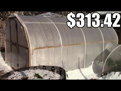 How Much Our DIY Hoop House (Greenhouse) Cost