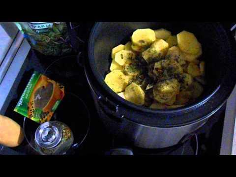 Картофель с сыром и чесноком в мультиварке