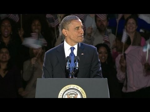 President Barack Obama Victory Speech 2012: Election Remarks From Chicago Illinois