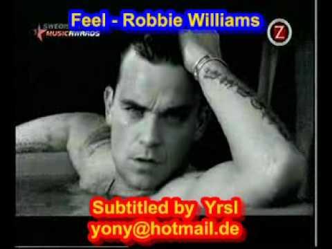 letra robbie williams feel: