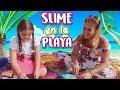 SLIME en la PLAYA con una suscriptora | SLIME de ARENA y SLIME de MAR