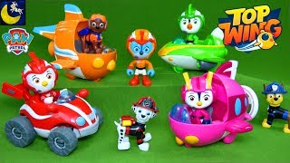 NEW Top Wing Toys meet Paw Patrol Ultimate Rescue Pups Fire Truck Ryans World Squishy Surprise Toys