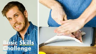 50 People Try to Fillet a Fish   Basic Skills Challenge   Epicurious