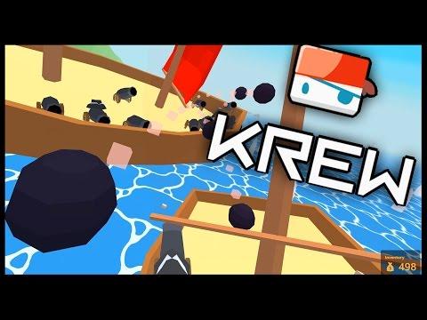 Krew.io - MASSIVE SHIP! - Sinking The Biggest Ship! - Krew Multiplayer Raft Game - Krew.io Gameplay
