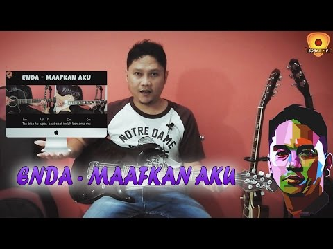 Tutorial Gitar Melodi Enda Ungu - Maafkan Aku [Slow Tempo By Sobat P]