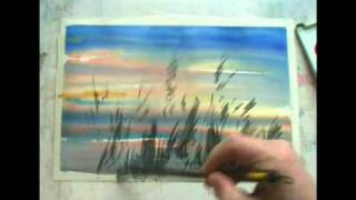 Sunset-watercolor-demo-Sterkhovart
