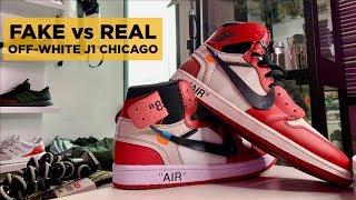 REAL vs FAKE: OFF-WHITE JORDAN 1 CHICAGO LEGIT CHECK