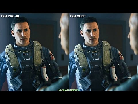 Call of Duty Infinite Warfare PS4 PRO vs PS4 Graphics Comparison in 4K | PS4 PRO 4K 2160P