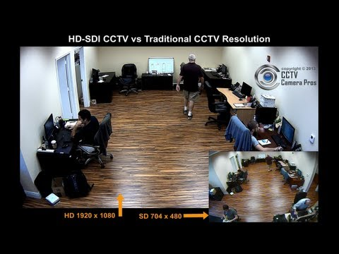 HD-SDI CCTV Camera vs Analog CCTV Video Comparison