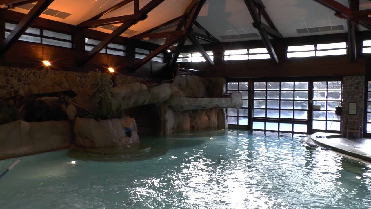 Disneyland Paris Sequoia Lodge Swimming Pool Jan 2014