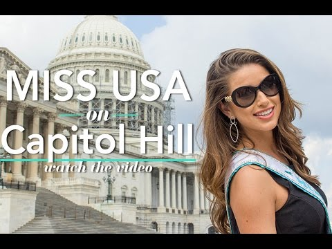 Miss USA 2014 Nia Sanchez on Capitol Hill