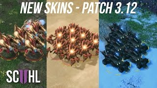 NEW SKINS - StarCraft 2 Patch 3.12 (Junker Hellion, Bone Ravager, Adun Immortal)