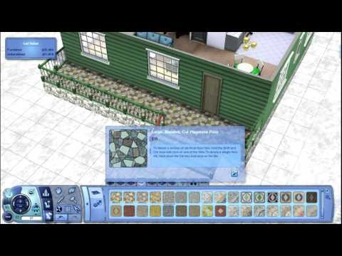 The Sims 3   Building a green log cabin using only one blueprint