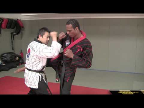 Hapkido Techniques vs. Very-Close-Range Roundhouse Kicks Demonstrated by Han Woong Kim Image 1