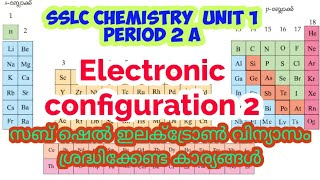 SSLC Chemistry Unit 1 Period 2 a