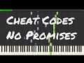 Cheat Codes - No Promises Piano Tutorial ft. Demi Lovato
